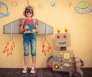 Chłopiec i robot